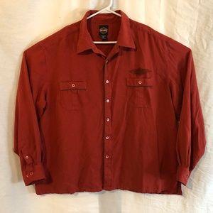 Harley Davidson 3XL Shirt Silk Embroidered 1117